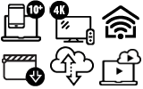 Up to 1Gig Icons Internet
