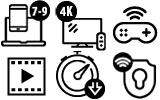 Up to 500Mb Internet Icons
