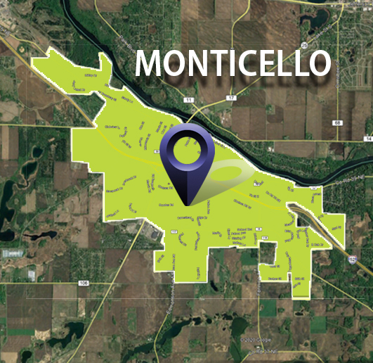 FiberNet Monticello Static Map